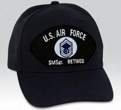 US Air Force E8 Senior Master Sergeant (SMSgt) Retired Ball Cap ... 181afb598d02